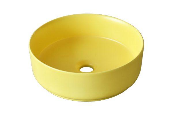 Chậu rửa mặt ceramic màu vàng SU524 sở hữu thiết kế hiện đại và tinh tế, mang điểm nhấn dịu dàng, tươi mới cho không gian và tạo vẻ đẹp gần gũi, thân thiện