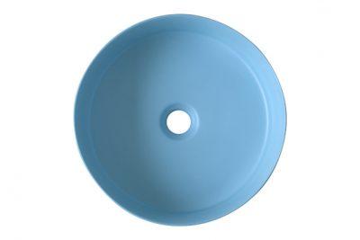 Lavabo màu xanh da trời SU525 phù hợp sử dụng trong không gian kiến trúc theo trường pháiCoastal Style,Ton-Sur-Ton hoặc Mediterranean Style Blue
