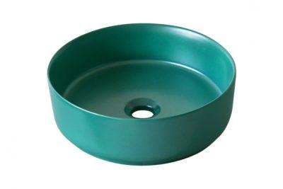 Chậu lavabo đặt bàn màu xanh SU529 thiết kế tối giản, thanh thoát, phù hợp sáng tạo phối cảnh theo phong cách Colour-Block Interiors hoặc Ton-Sur-Ton