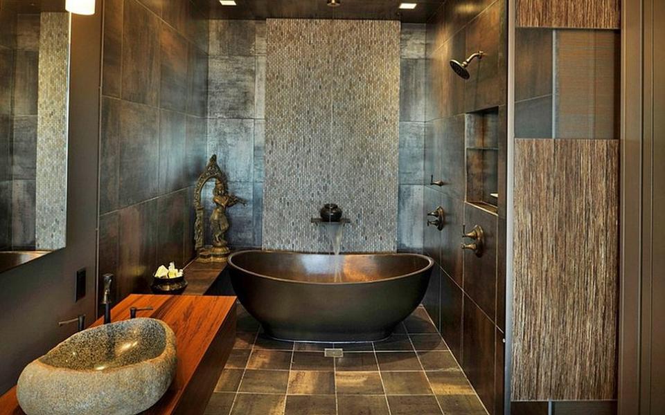 Chậu đá cuội tự nhiên, lavabo đá cuộilà một trong những thiết bị vệ sinh có sự hòa hợp và tính đồng điệu trong không gian kiến trúc thiên nhiên, sinh thái