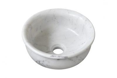 Lavabo đá marble trắng sang trọng, nhỏ gọn và tinh tế