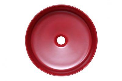 Chậu rửa mặt bằng sứ màu đỏ SU528