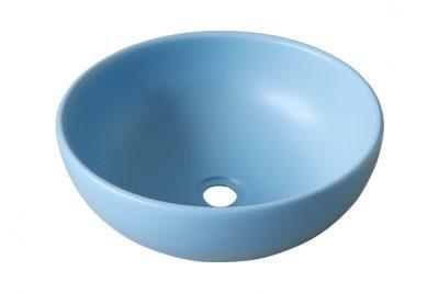 Chậu sứ rửa tay tròn màu xanh da trời SU515