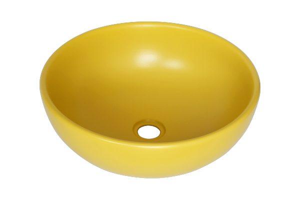 Chậu sứ vàng tròn SU514