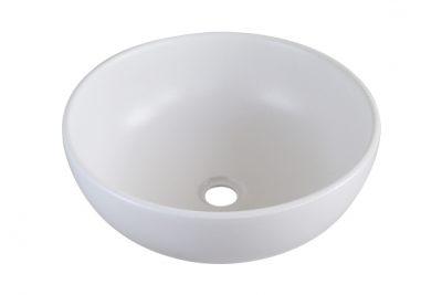 Lavabo tròn đặt bàn màu trắng SU513